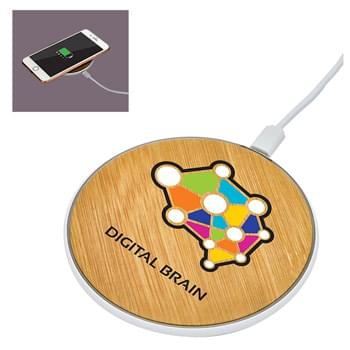 Bamboo Print Wireless Charger