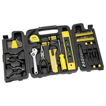 55 Piece Tool Set with Tri-Fold Carrying Case