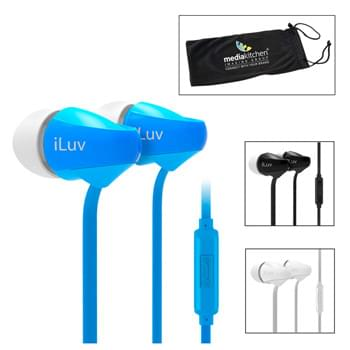 iLuv® Tangle-Resistant Ear Buds with Microphone